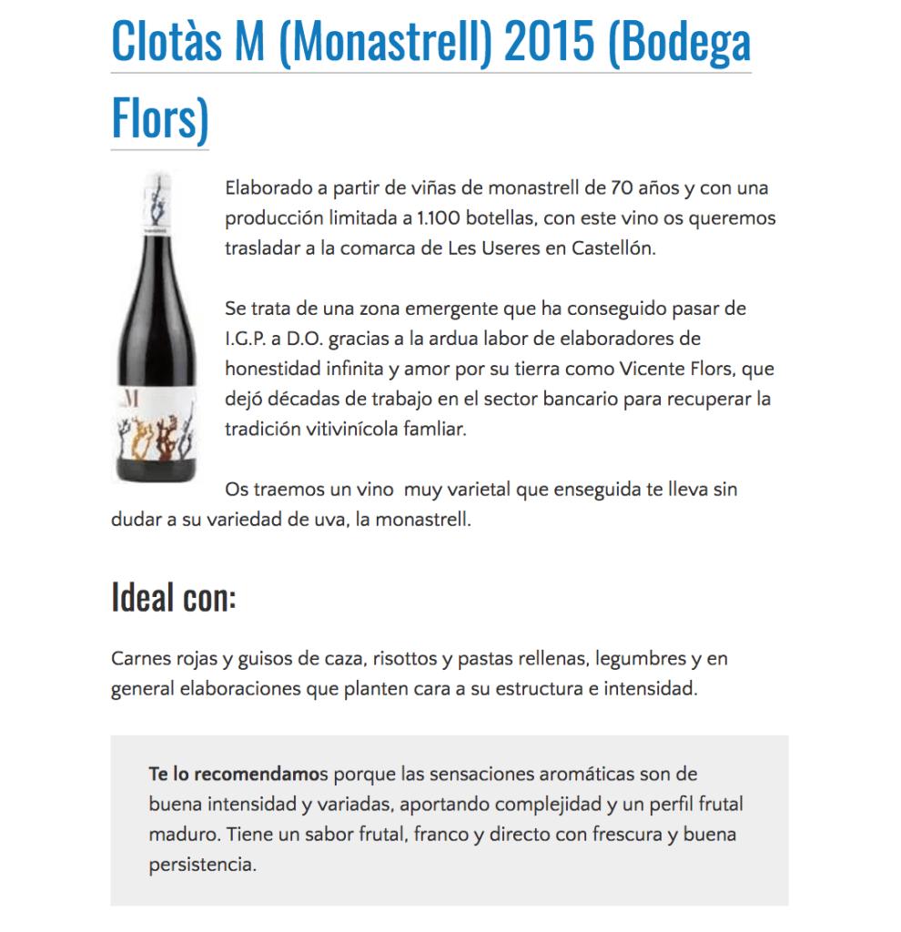 Clotàs M 2015 seleccionado por VinObjetivo